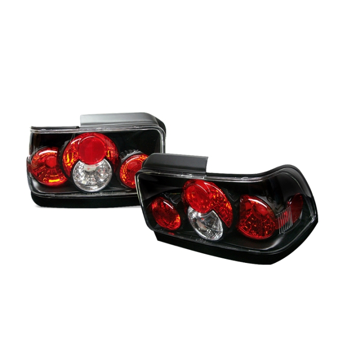 Toyota Corolla 93-97 Euro Style Tail Lights - Black