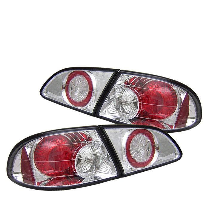 Toyota Corolla 98-02 Euro Style Tail Lights - Chrome