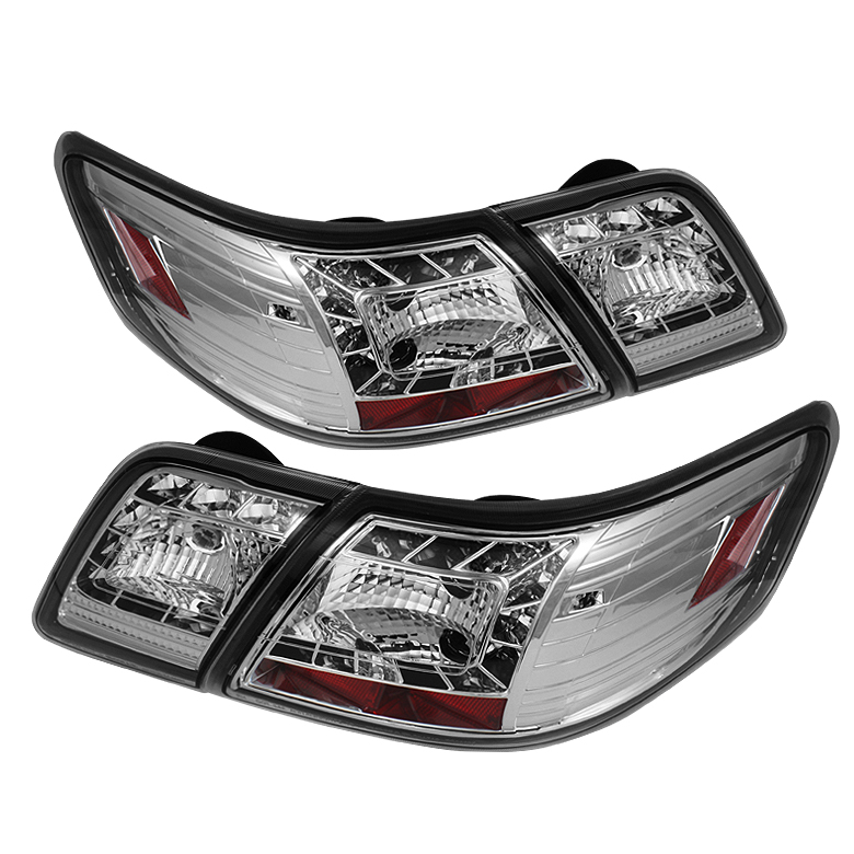 Toyota Camry 07-09 LED Tail Lights - Chrome