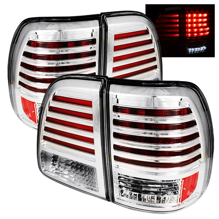 Toyota Land Cruiser 98-05 LED Tail Lights - Chrome