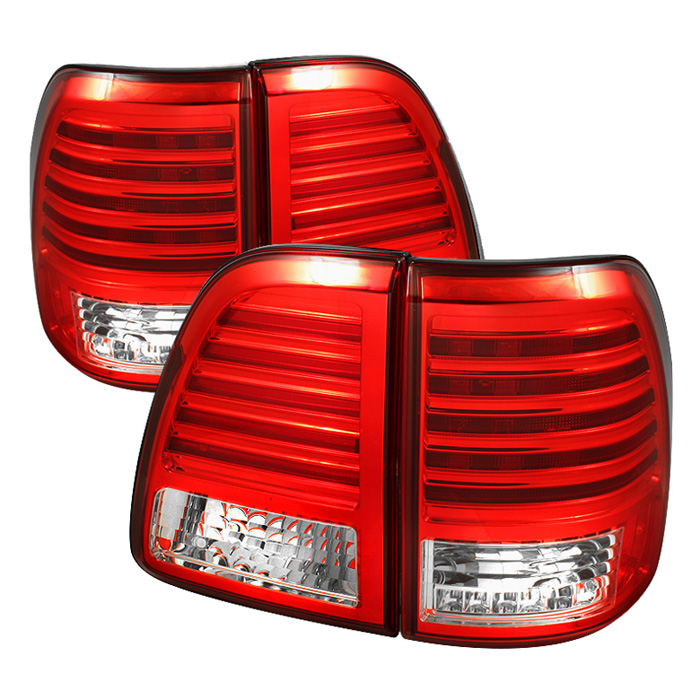 Toyota Land Cruiser 98-05 LED Tail Lights - Red Clear
