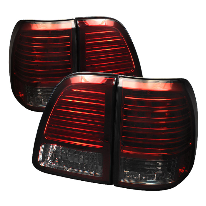 Toyota Land Cruiser 98-05 LED Tail Lights - Red Smoke