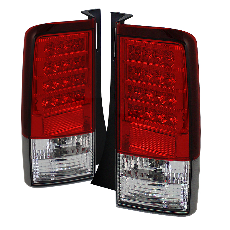 Scion XB 03-07 Version 2 LED Tail Lights - Red Clear