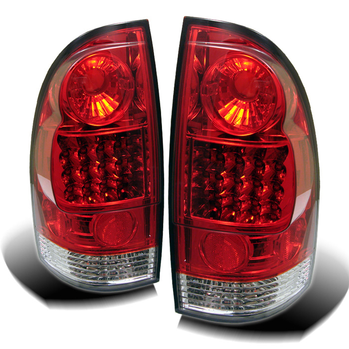 Toyota Tacoma 05-12 LED Tail Lights - Red Clear