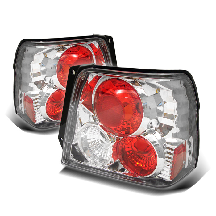 Toyota Tercel 95-98 Euro Style Tail Lights - Chrome