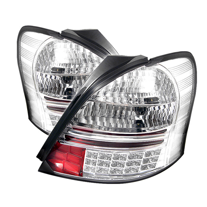 Toyota Yaris 07-08 2Dr LED Tail Lights - Chrome