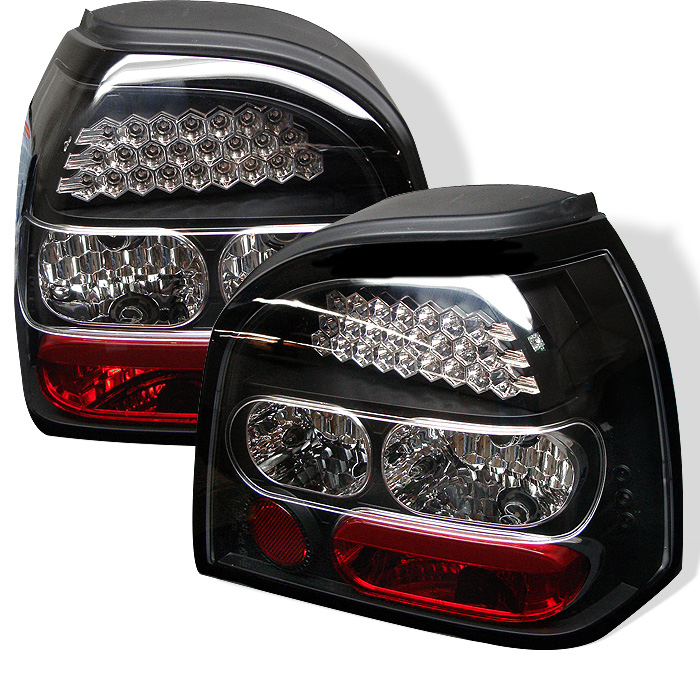 Volkswagen Golf 93-98 LED Tail Lights - Black