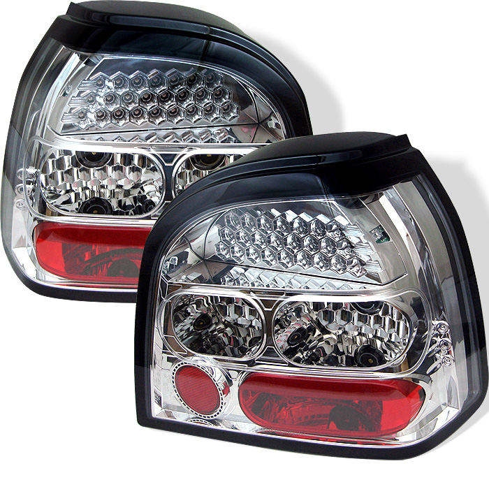Volkswagen Golf 93-98 LED Tail Lights - Chrome