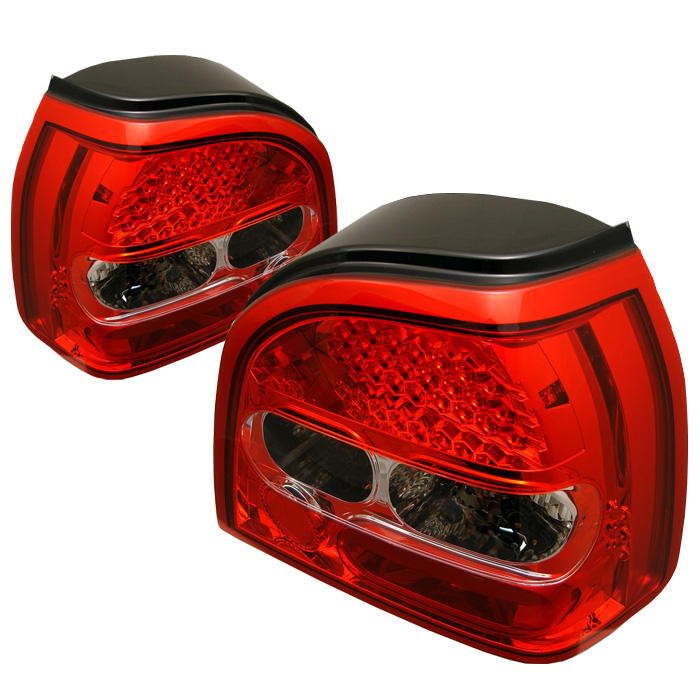 Volkswagen Golf 93-98 LED Tail Lights - Red Clear