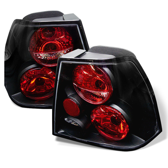 Volkswagen Jetta 99-04 Euro Style Tail Lights - Black