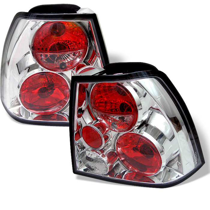 Volkswagen Jetta 99-04 Euro Style Tail Lights - Chrome