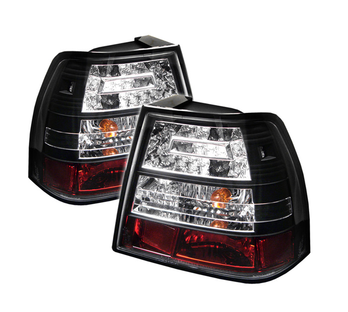Volkswagen Jetta 99-04 LED Tail Lights - Black